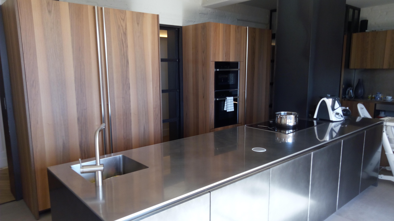 cocina inox y madera 3